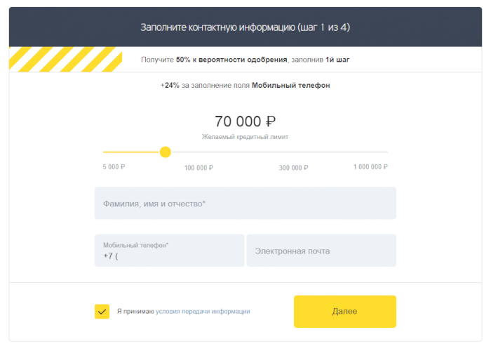 Кредитная карта от Тинькофф Банк